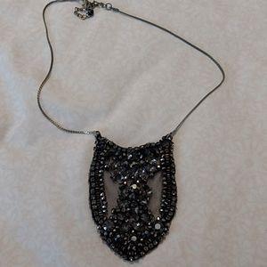 ZARA black beaded statement necklace